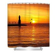 Sunrise Frolic Shower Curtain