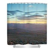 Sunrise From Mt Sherman Panorama Shower Curtain