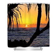 Sunrise Fuji Beach Kauai Shower Curtain