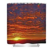 Sunrise In Colombia Shower Curtain