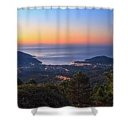 sunrise in Elba island Shower Curtain