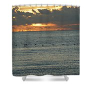 Sunrise In Florida Riviera Shower Curtain