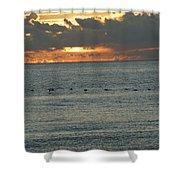 Sunrise In Florida Riviera Shower Curtain