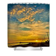 Sunrise In Manaure Colombia Shower Curtain