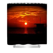 Sunrise In Miami Beach Shower Curtain