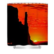Sunrise In Monument Valley Shower Curtain