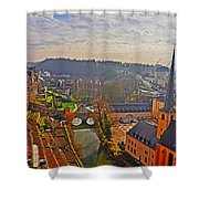 Sunrise In Old Town Shower Curtain