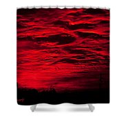 Sunrise In Red Shower Curtain