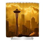 Sunrise In Seattle Shower Curtain