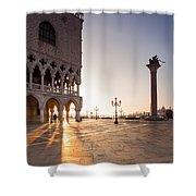 Sunrise In St Marks Square Venice Italy Shower Curtain