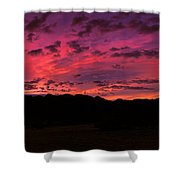 Sunrise In The Foothills Shower Curtain