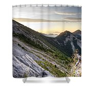 Sunrise In The Pyrenean Catalonia Shower Curtain