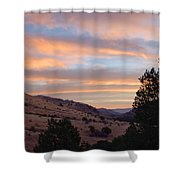 Sunrise - Indian Lodge Shower Curtain by Allen Sheffield