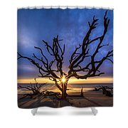 Sunrise Jewel Shower Curtain