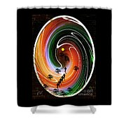 Sunrise Joggers  Shower Curtain