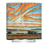 Sunrise Les Eboulements Quebec Shower Curtain