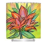 Sunrise Lily Shower Curtain