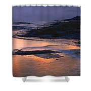 Sunrise Lower Geyser Basin Shower Curtain