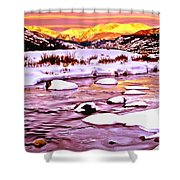 Sunrise On A Cold Day Shower Curtain