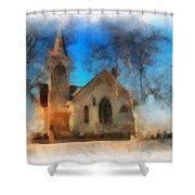 Sunrise On A Rural Church 04 Shower Curtain