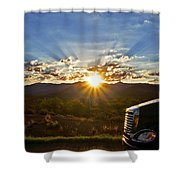 Sunrise On A Traffic Jam Shower Curtain
