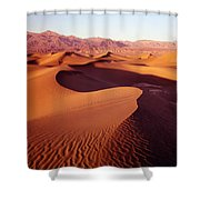2a6856-sunrise On Death Valley Shower Curtain