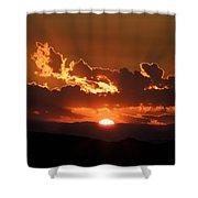 Sunrise On Fire Shower Curtain