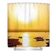 Sunrise On Ganges Shower Curtain