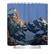 1m9333-h-sunrise On Grand Teton Shower Curtain