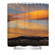 Sunrise On Lenticular Clouds Shower Curtain