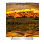 Sunrise On Little Redfish Lake Shower Curtain