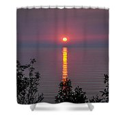 Sunrise On Middle Island Shower Curtain