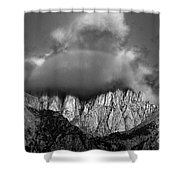 Sunrise On Mount Whitney Eastern Sierras California Shower Curtain