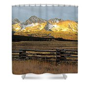 Sunrise On Sawtooth Mountains Idaho Shower Curtain
