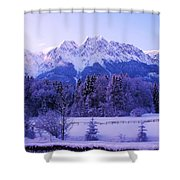 Sunrise On Snowy Mountain Shower Curtain
