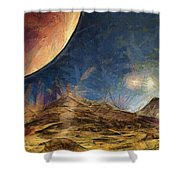 Sunrise On Space Shower Curtain