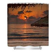 Sunrise On The Beach Shower Curtain