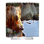 Sunrise On The Cliff Shower Curtain