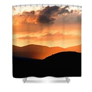 Sunrise On The Hills Shower Curtain