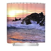 Sunrise On The Horizon Shower Curtain