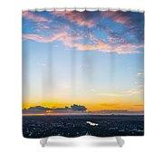Sunrise On The Horizon Shower Curtain