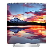 Sunrise On The Lake Shower Curtain by Darren  White