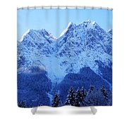 Sunrise On The Alps Shower Curtain