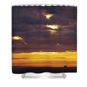 Sunrise On The Ocean Shower Curtain