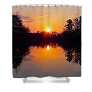 Sunrise On The Pond Shower Curtain