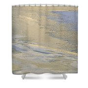 Sunrise On The River Ice #2 Shower Curtain
