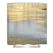 Sunrise On The River Ice Shower Curtain