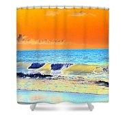 Sunrise On Tybee Island - Photopower 168 Shower Curtain