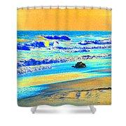 Sunrise On Tybee Island - Photopower 169 Shower Curtain