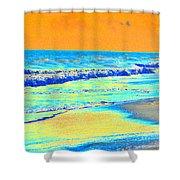 Sunrise On Tybee Island - Photopower 170 Shower Curtain